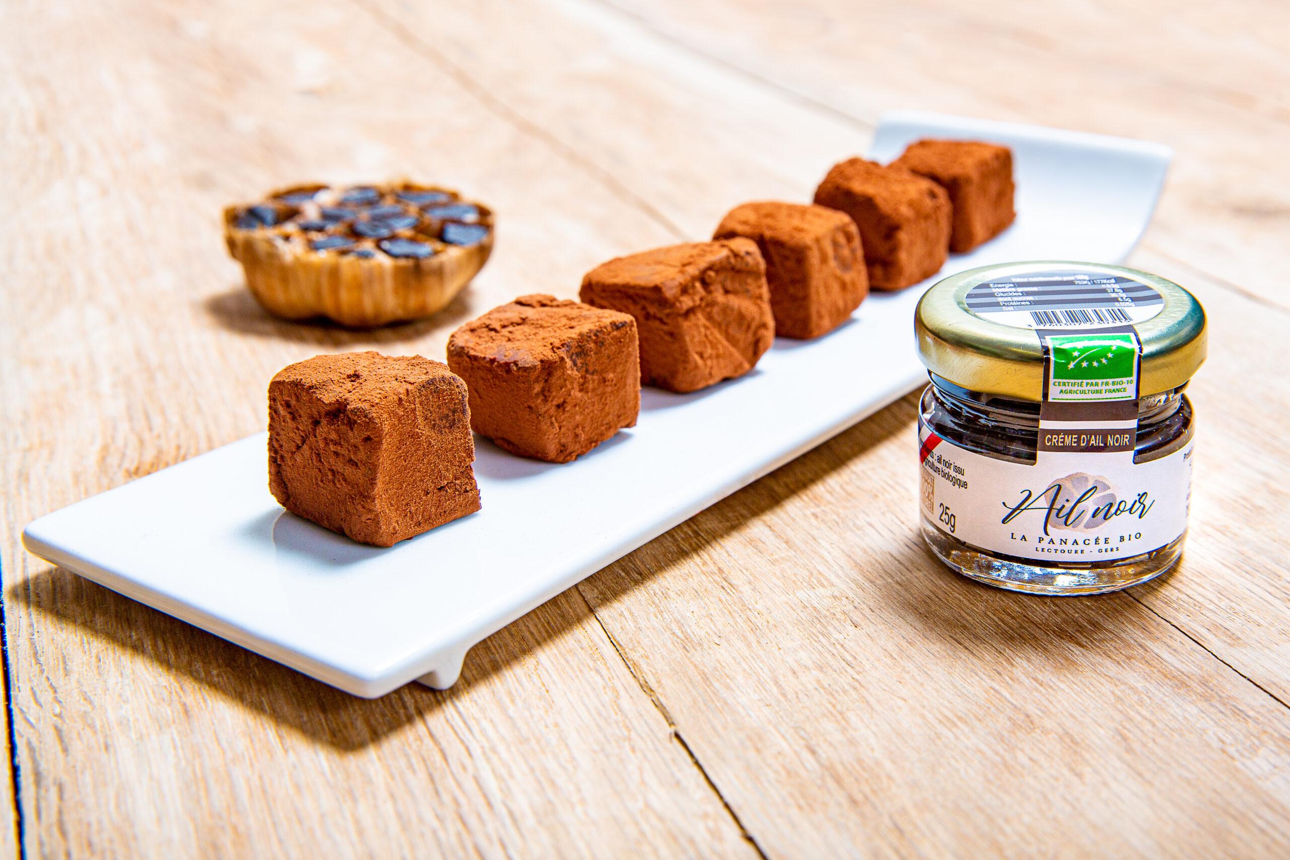 truffes chocolat ail noir